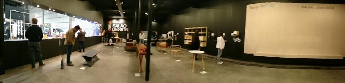 Espaço expositivo o Prêmio Salão Design